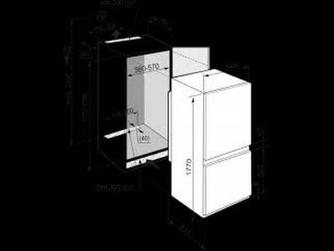 Установка и подключение встраиваемого холодильника