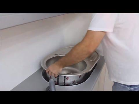 Установка врезной раковины на кухне | как врезать кухонную мойку | Установка раковины