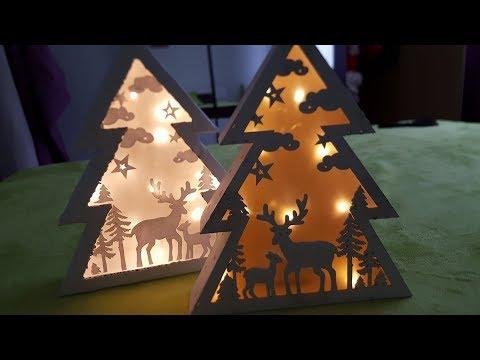 HandMade Елочка своими руками, делаем елку с картиной и подсветкой...очень красиво)))