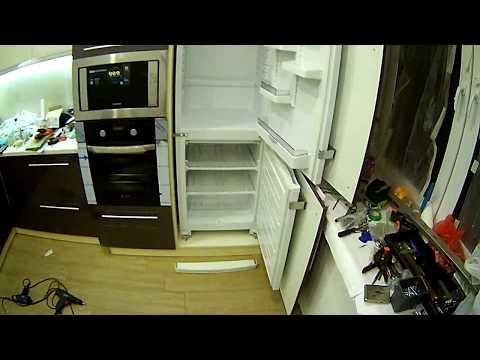 Как встроить невстраиваемый холодильник.Подробное описание