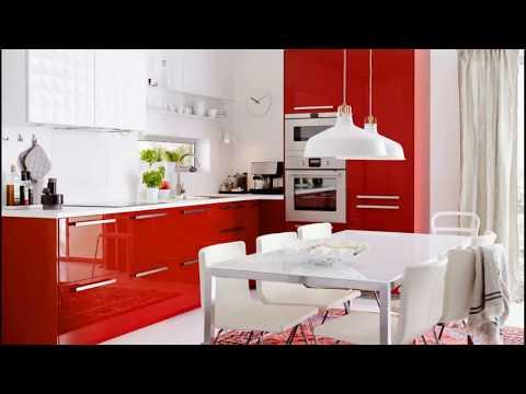 КРАСНАЯ КУХНЯ 50 идей кухни в красных тонах. Red Kitchen ideas.