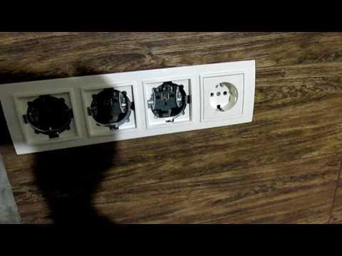 Установка и Подключение Блока Розеток на Кухне Своими Руками. Setting outlet