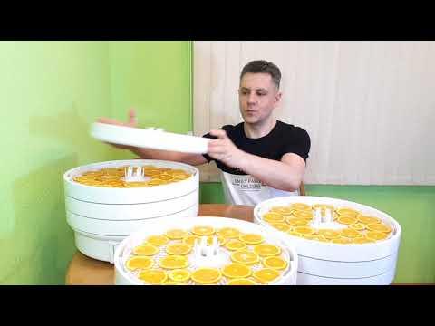 Сушка апельсинов на электро сушилке Волтера 1000 люкс с таймером