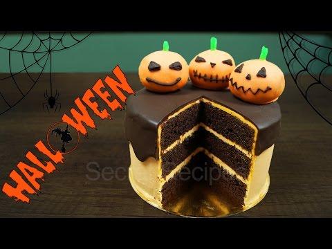 Торт на Хэллоуин. Шоколадно-апельсиновый торт на Halloween   Cake Halloween