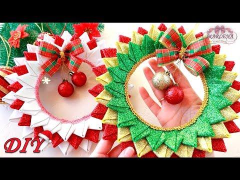 НОВОГОДНИЙ ❄ РОЖДЕСТВЕНСКИЙ ВЕНОК из фоамирана/Christmas wreath
