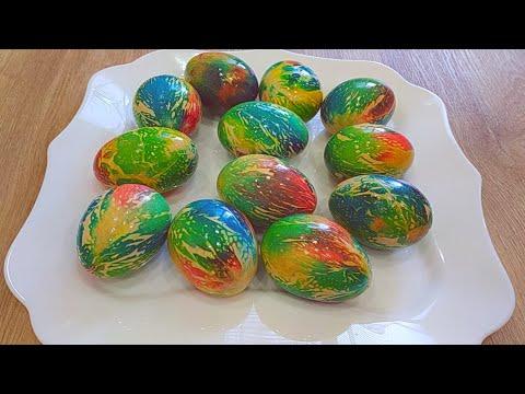 Как покрасить ЯЙЦА к ПАСХЕ.ЛУЧШИЙ РЕЦЕПТ. Необычно,Оригинально,Красиво.ИДЕИ для Пасхальных яиц.