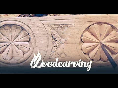 Woodcarving Baroque Flower Ornament ►► Timelapse Резьба по дереву Орнамент Барокко