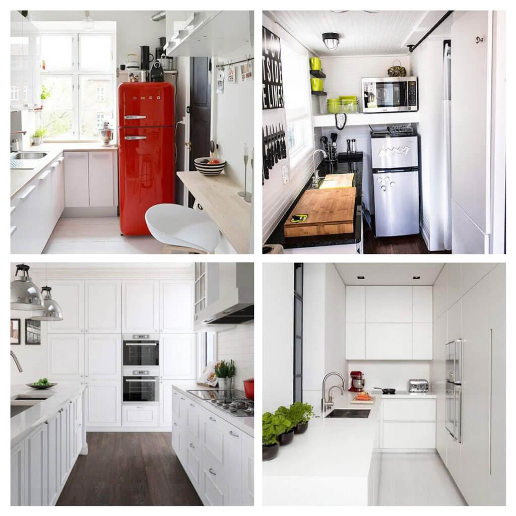 Скромная и стильная маленькая кухня
