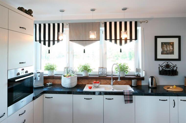 Необычные шторы на кухню