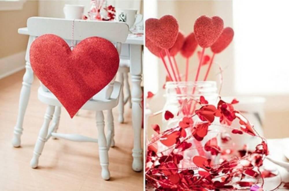 Романтические украшения на стол