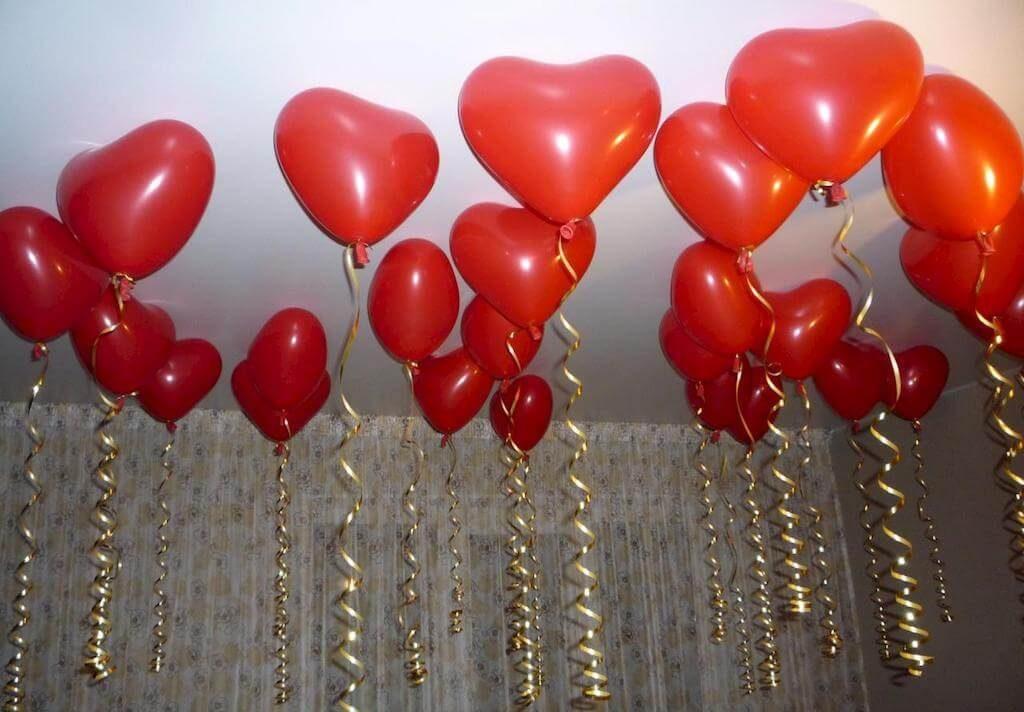Воздушные шары в виде сердца