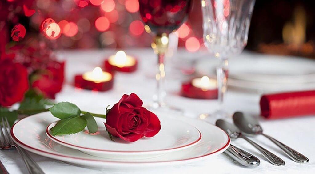 Сервировка для романтического ужина