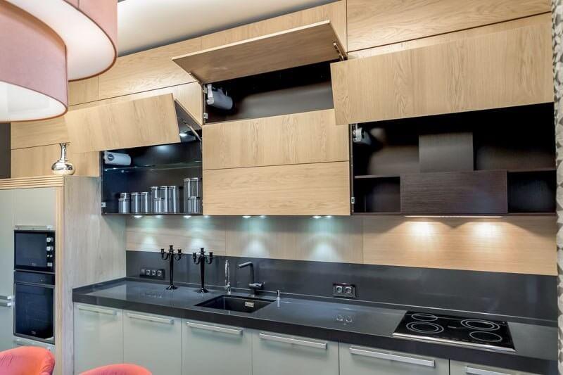 навесные шкафы на кухню фото