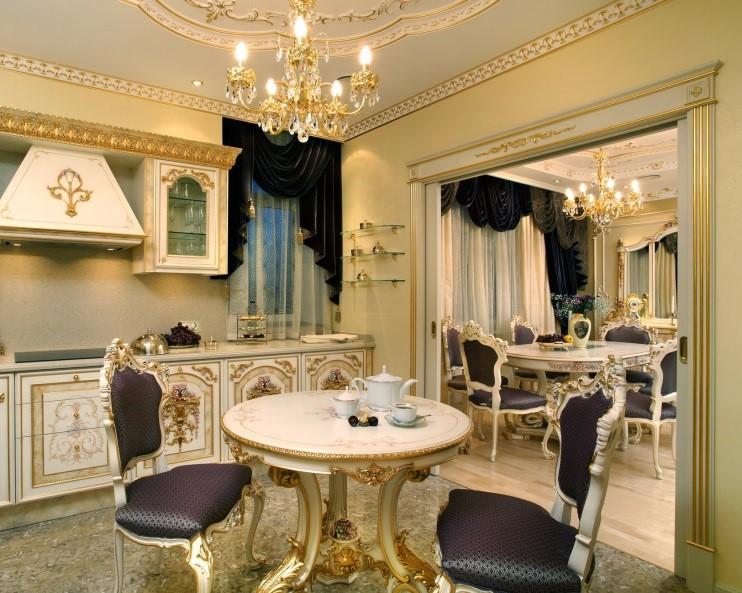 Кухня гостиная в стиле барокко и рококо
