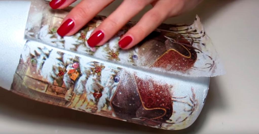 Как украсить своими руками бутылку шампанского на Новый год{q} Украшения и декор, новогоднее оформление лентами и конфетами