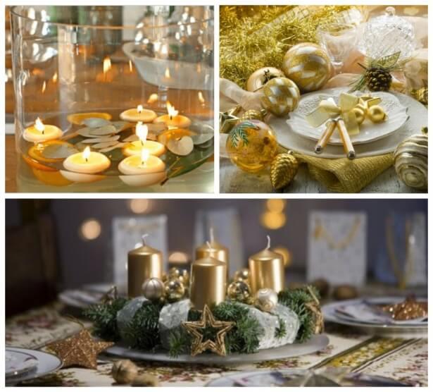свечи на новогодний стол