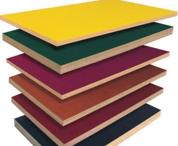 разноцветные листы ДСП