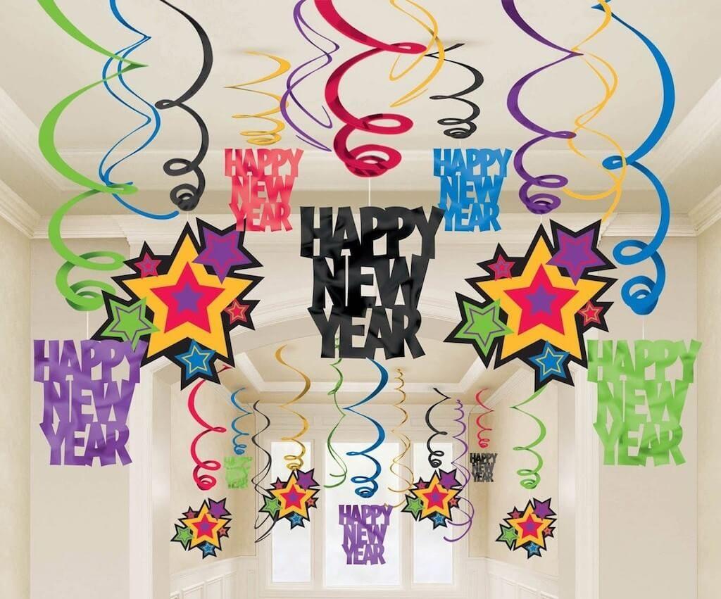 серпантин на новый год
