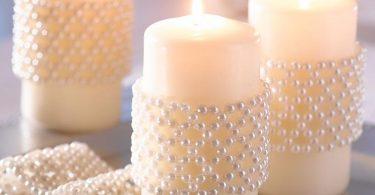 свечи с бусинками своими руками