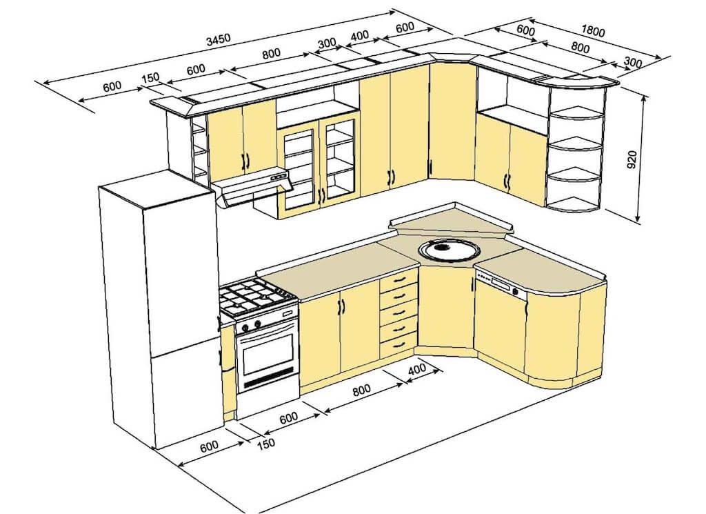 угловой гарнитур на кухню