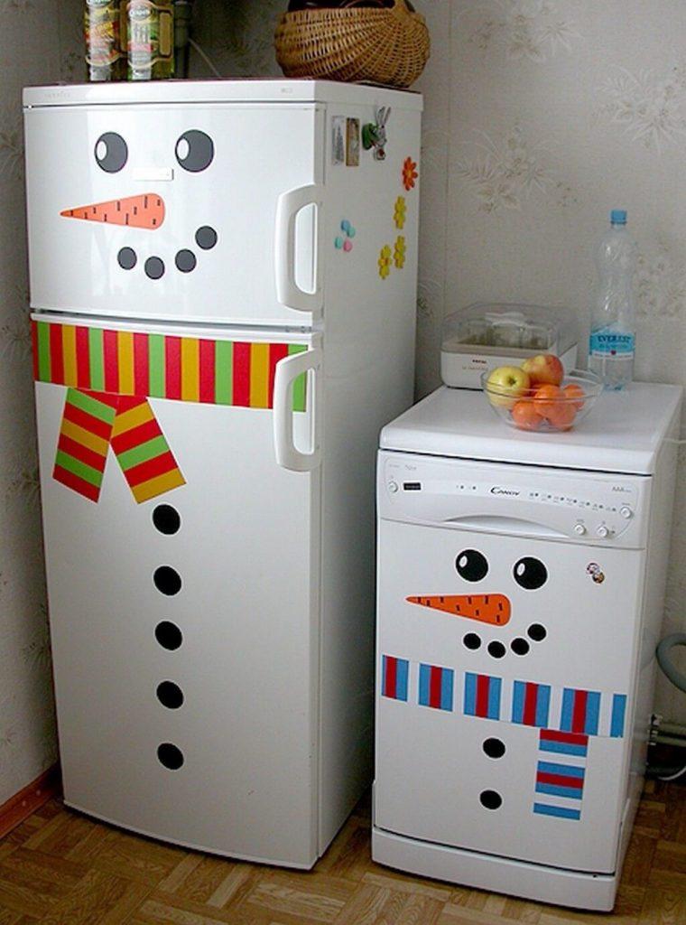 Холодильник снеговик