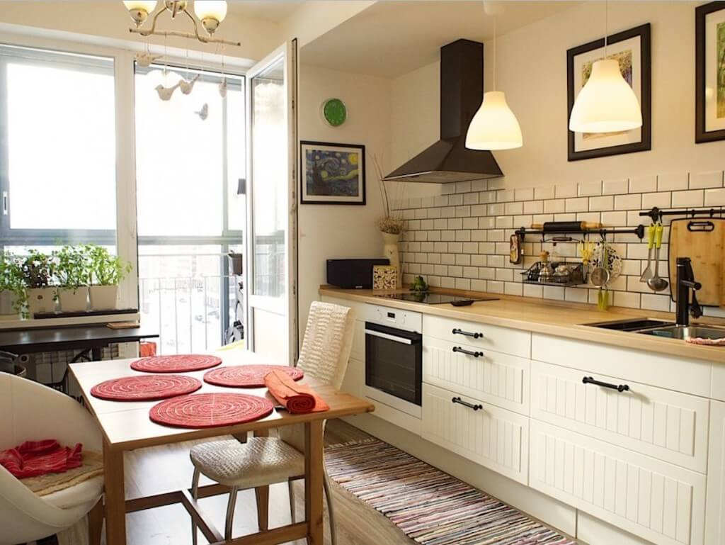 Дизайн кухни без верхних шкафов: на что важно обратить внимание, фото интерьеров с разными планировками и стилями