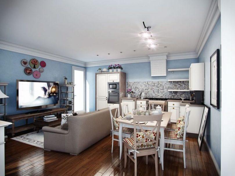 Кухня-гостиная 20 кв. м: дизайн интерьера