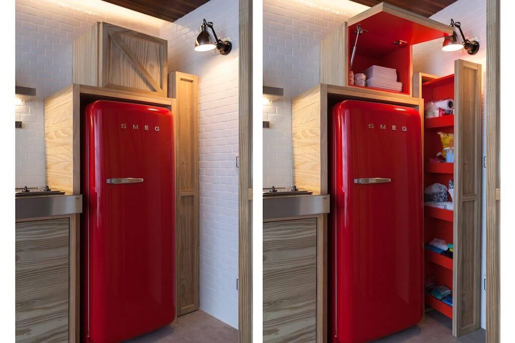 этого шкаф для холодильника фото медно-русый