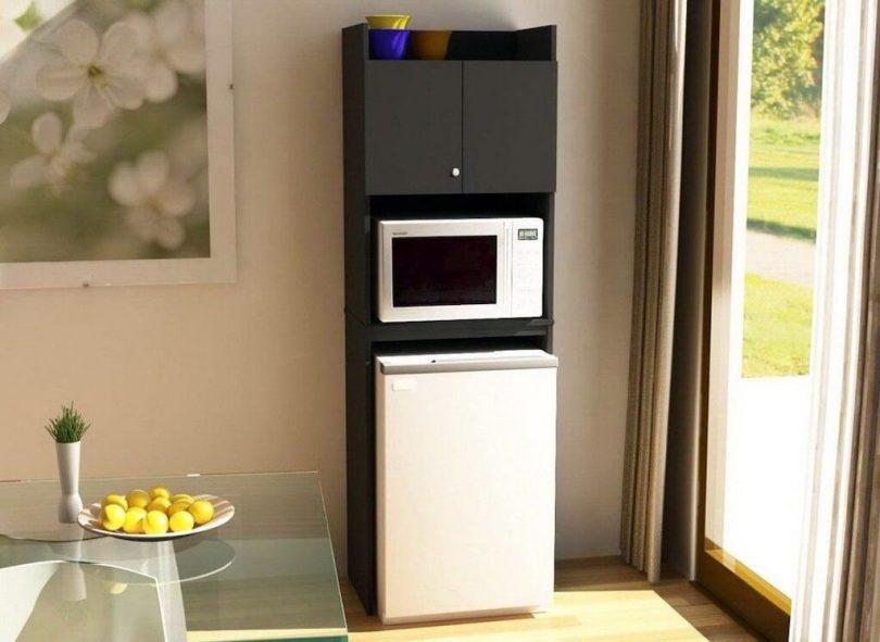 ставят микроволновку на холодильник