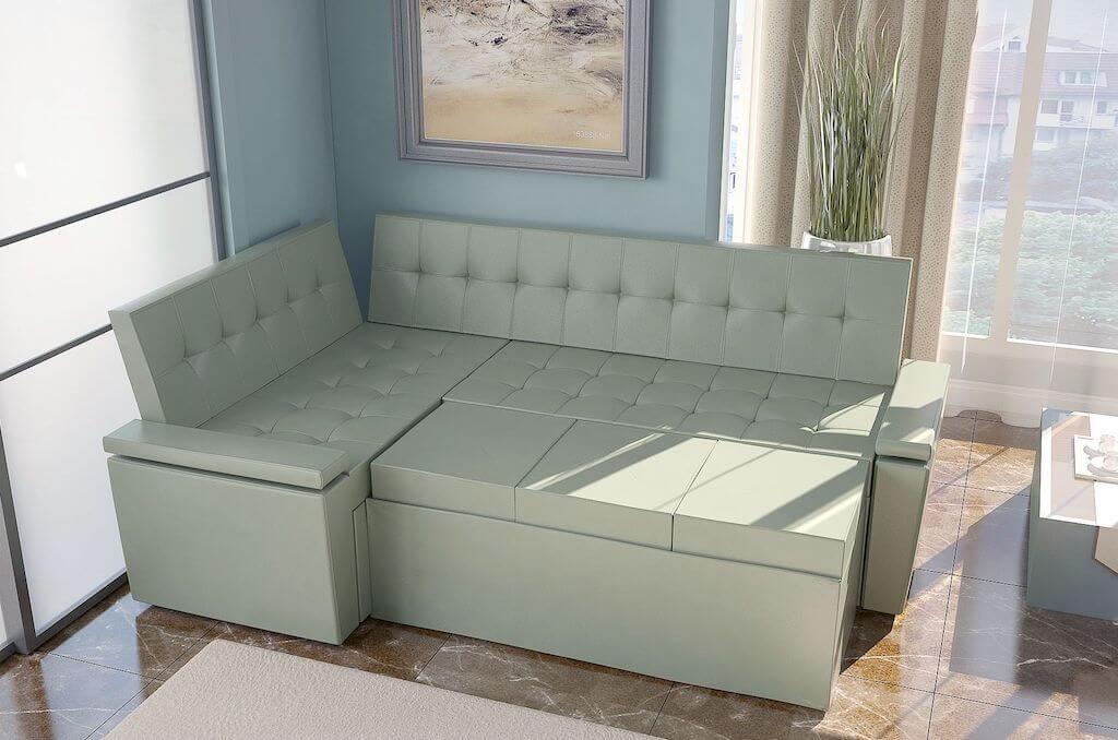 кухонный мягкий диван со спальным местом фото