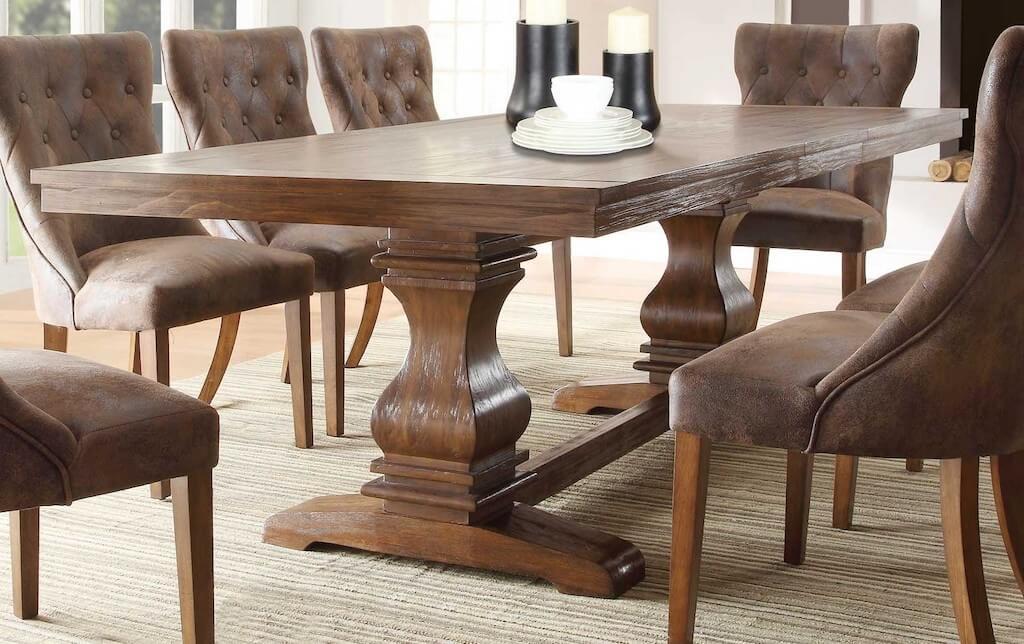 Стол из массива дерева - 130 фото лучших деревянных столов