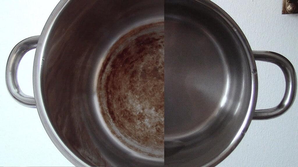 Как отмыть пригоревшую кастрюлю: эмалированную, из нержавейки, внутри и снаружи